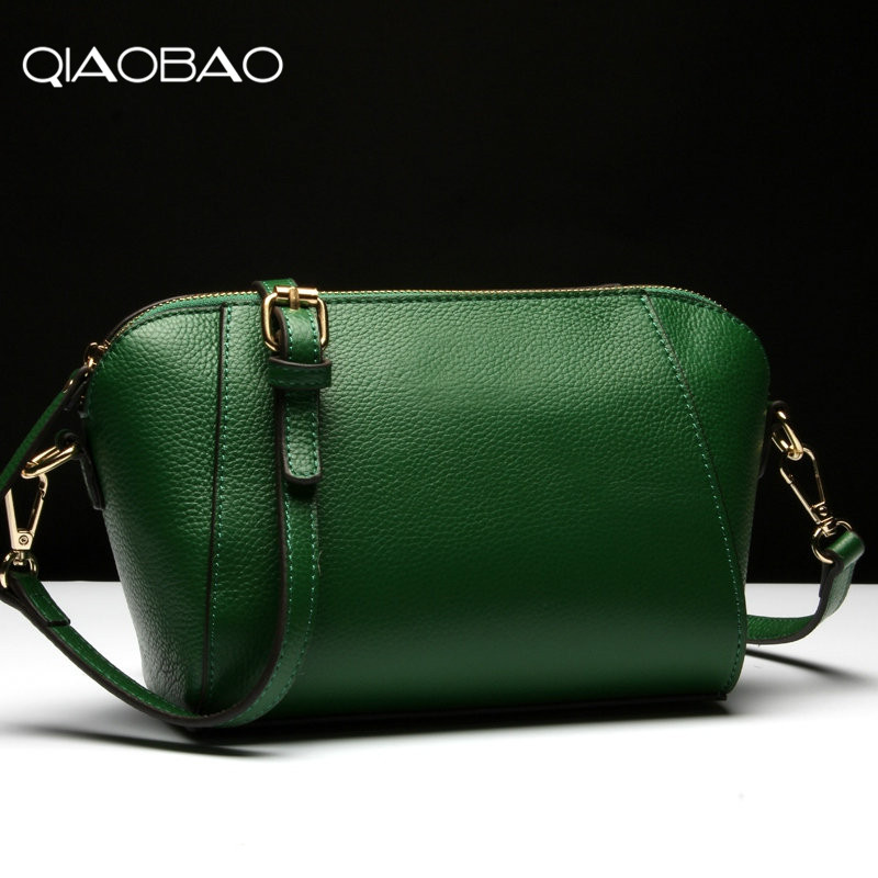 QIAOBAO 100% Genuine Leather Bags Fashion Women Real Leather Handbag Large Shoulder Bags Elegant Women Bolsa 2018 qiaobao 100