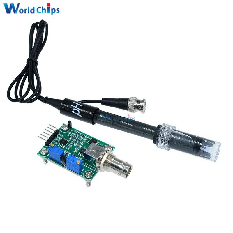 Flüssigkeit PH Wert Erkennung Regler Sensor Modul Überwachung Steuerung Meter Tester + BNC PH-Elektrode Sonde Für Arduino