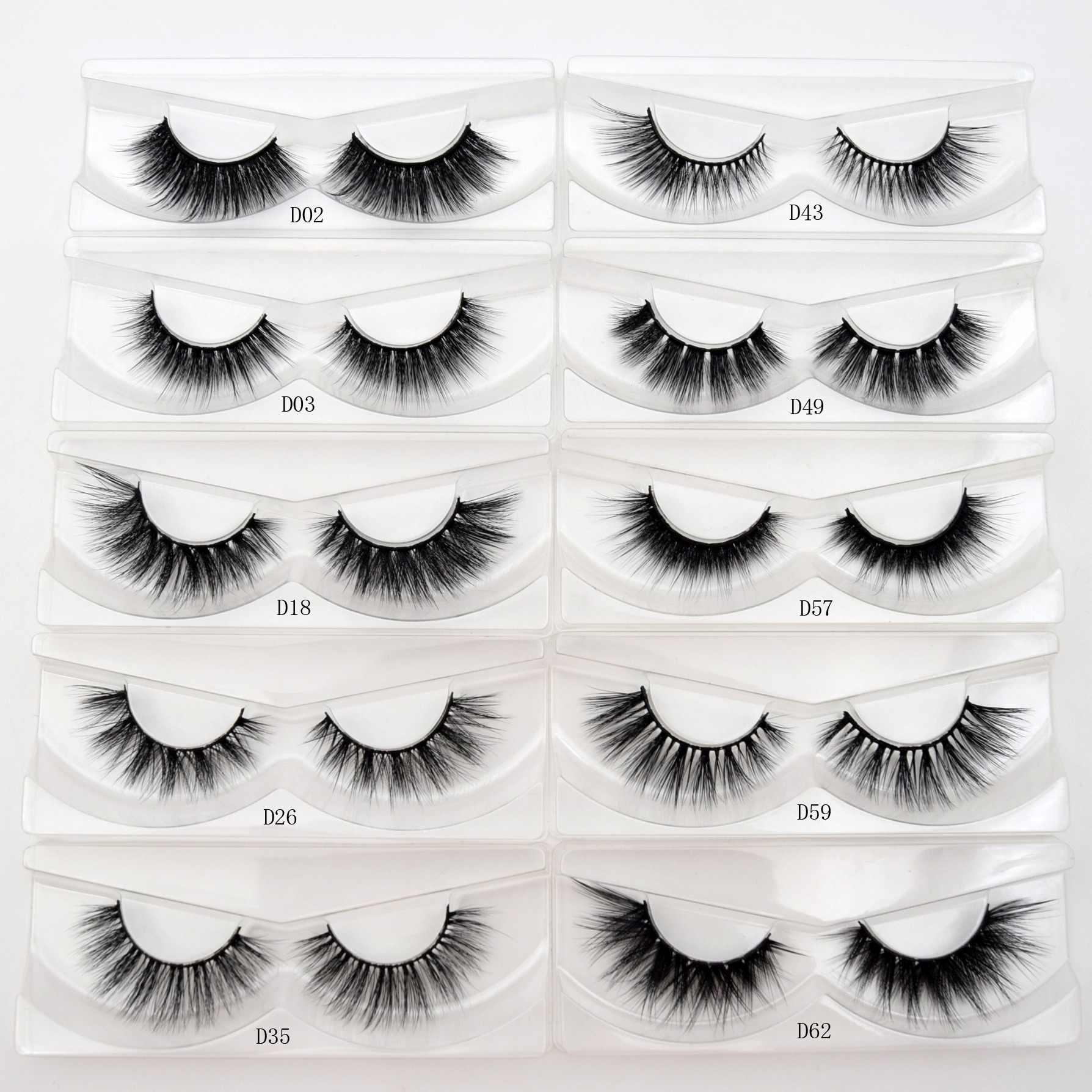 e2f5d070c5c visofree cilios mink eyelashes makeup false eyelashes handmade natural full  volume lashes 3D faux cils mink
