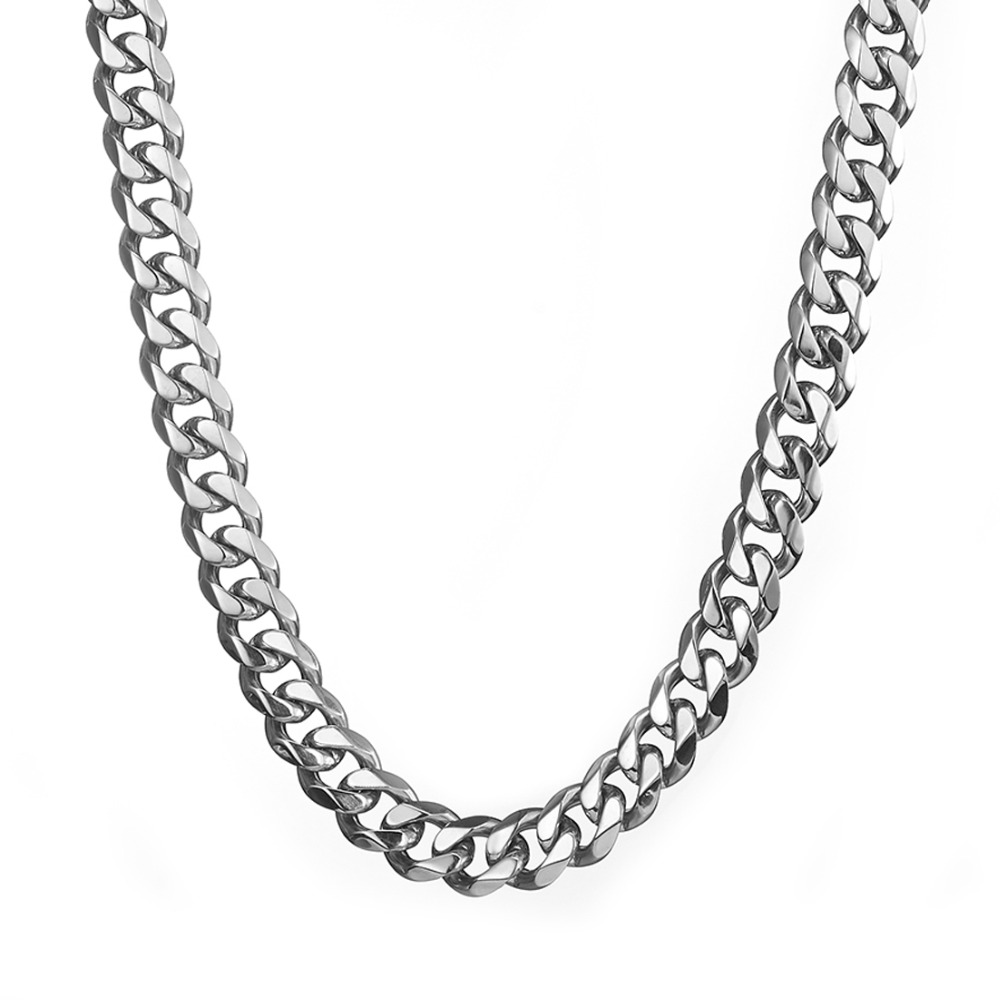 Jewelry & Accessories Aspiring Betty 15mm 16-40 Inch Smooth Stainless Steel Silver Tone Curb Chain Link Necklace Mens Boys Holiday Gifts Preventing Hairs From Graying And Helpful To Retain Complexion
