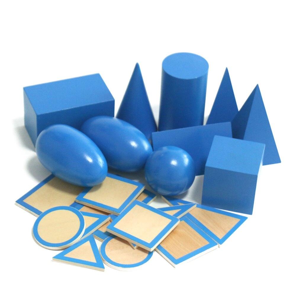 Montessori jouets éducatifs en bois solide géométrie bloc préscolaire en bois Montessori jouets d'apprentissage pour 2 3 4 ans B1667T