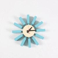 CW06 Heiße verkäufe Hohe qualität Blau Block Uhr fabrik großhandel können OEM Haus Dekoration fernsehen hintergrund kostenloser versand