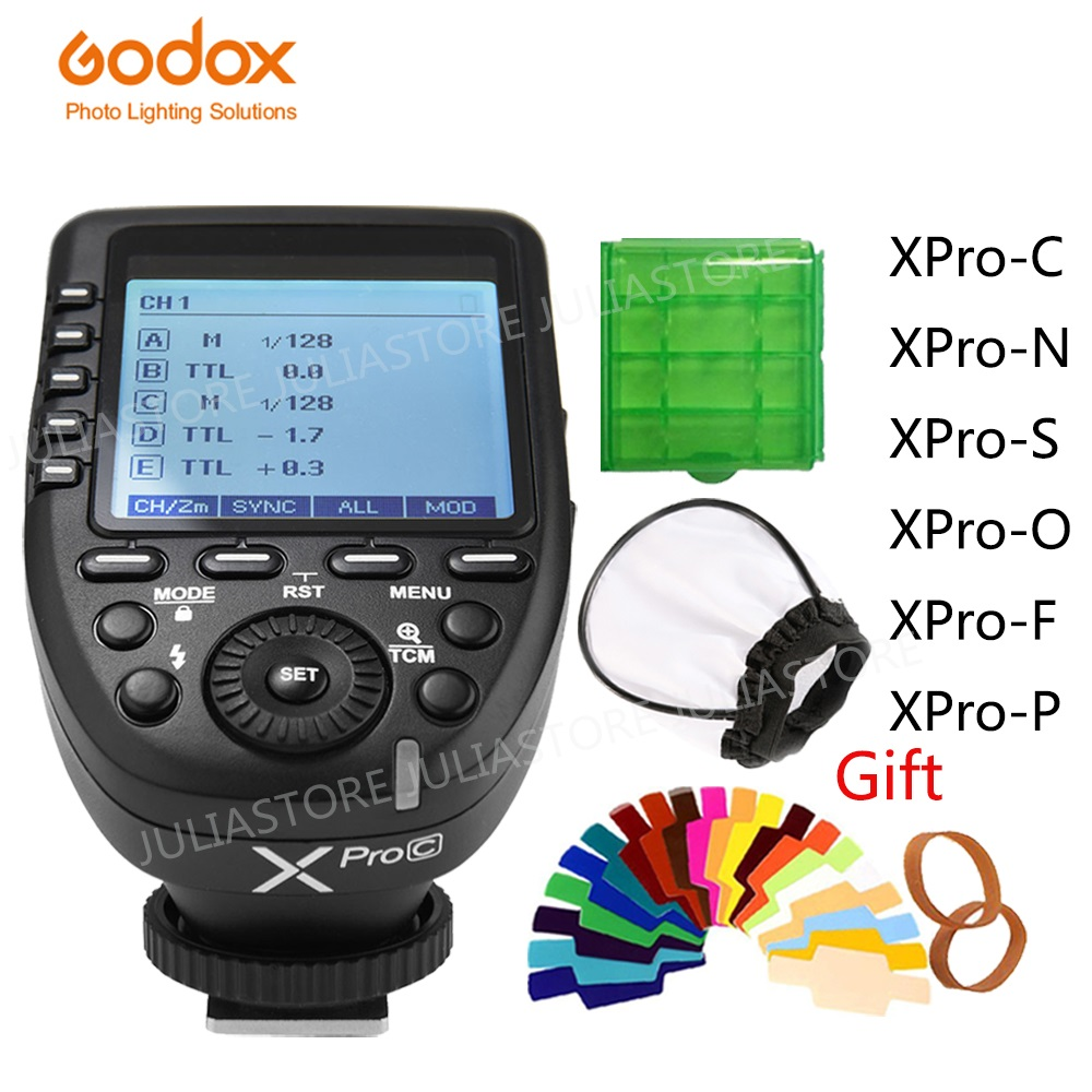 Godox Xpro Series Flash Trigger Transmitter Xpro-C/N/S/F/O For All Type Camera For Canon Nikon Sony Olympus Panasonic Fuji