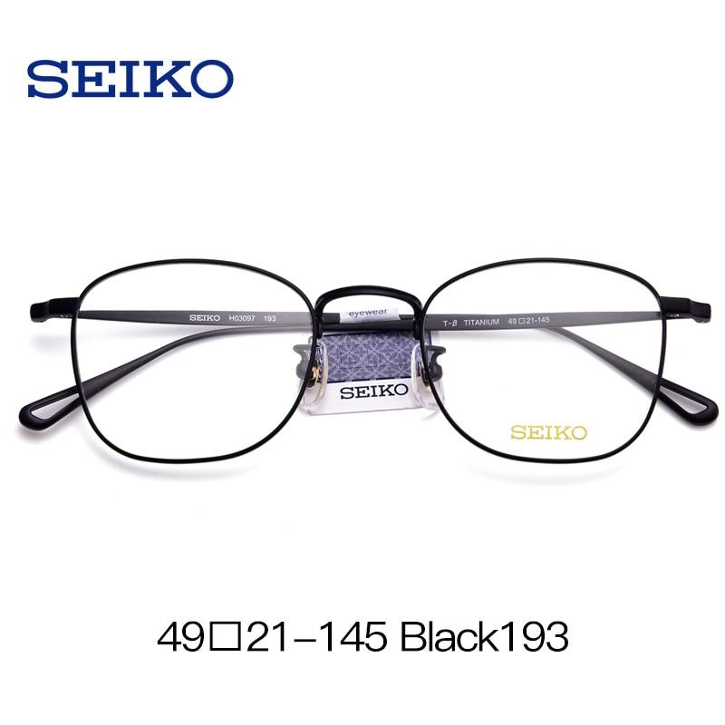 SEIKO titane lunettes cadre lunettes de Prescription hommes lunettes dioptriques lunettes optiques lunettes correctrices cadre avec lentilles - 2