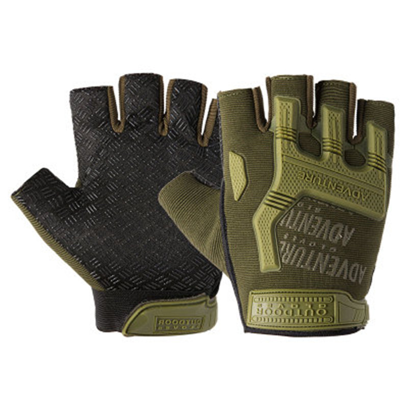 1Pair Gear Military Fingerless Hard Knuckle Tactical Gloves Men Half Finger for Army Sport Driving Shooting Riding Motorcycle 2