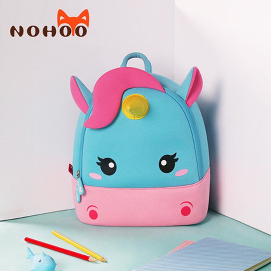 Children School Backpack kids bag Cartoon Rainbow Unicorn Design For Toddler Baby Girls Kindergarten Kids School Bags nohoo waterproof cute cats animals baby backpack kids toddler school bags for girls children school bags kids kindergarten bag