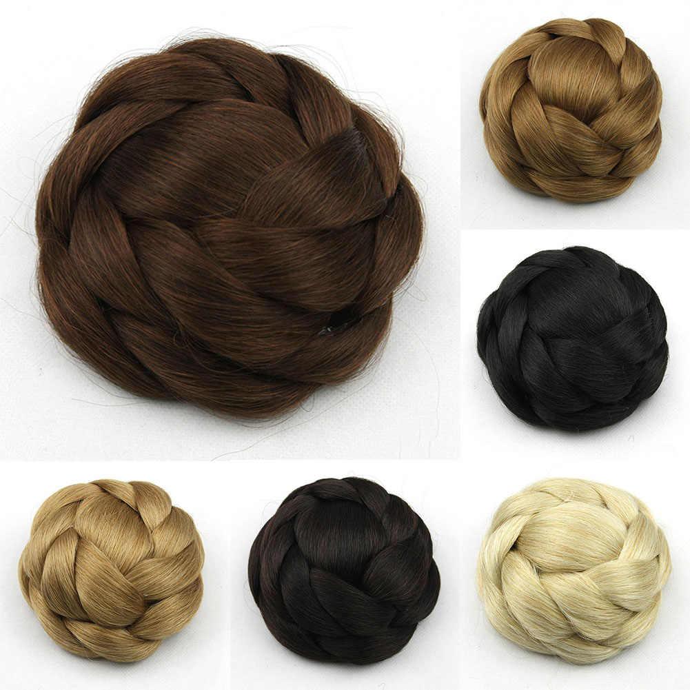 Стайлинг удобная одежда нескользящий нож синтетический искусственный наращенные Волосы Bun женский парик клип натуральный легкий дышащий