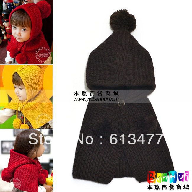Winter  Keep Warm Knitted Hats For Boy/girl/kits Hats Set,scarves, Bug/bee  Infants Caps Beanine For Chilldren Mz0603-1pcs