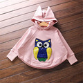 Fast High Quality Children Clothing 2016 Korean Fashion Cute Casual Hooded Paillette Sweatshirt Baby Girl Clothes Autumn&spring