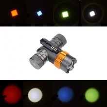 CREE XML T6  2000 Lumens Headlight Bicycle Hiking Light LED Head Lamp Waterproof Colorful Headlamp Head Torch 18650 AAA