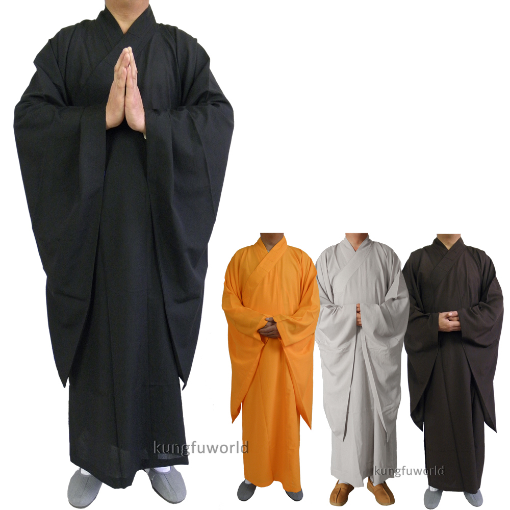 Högkvalitativ Shaolin Temple Buddhist Monk Dress Haiqing Robe Martial Arts Meditation Kung Fu Suit Wushu Uniform