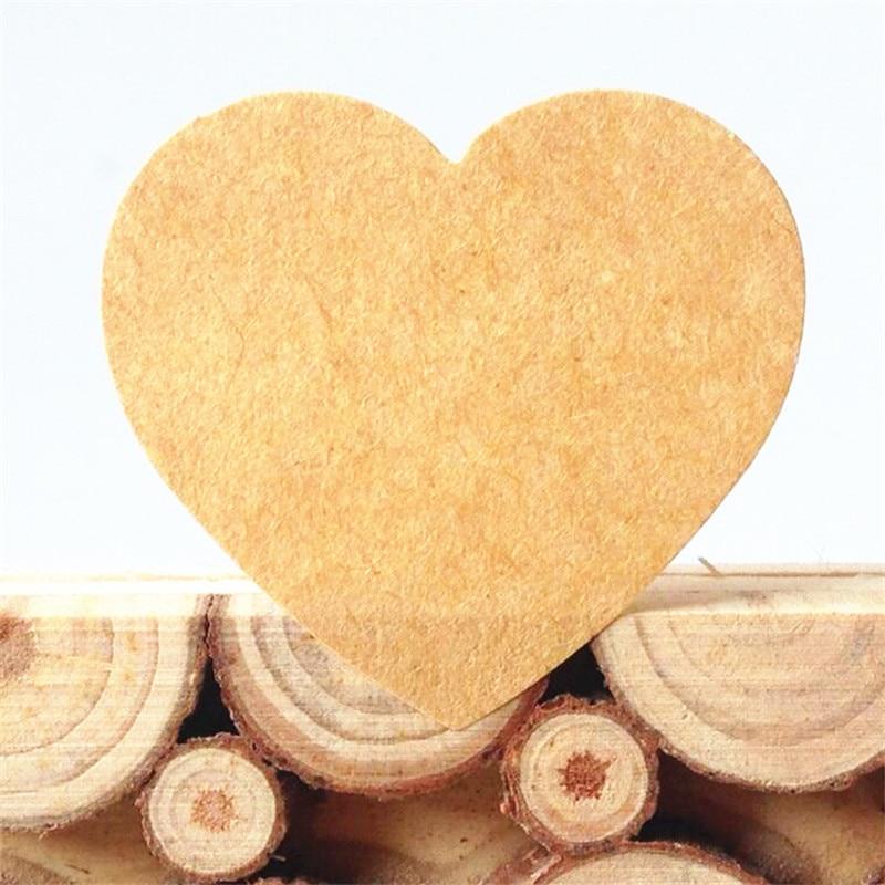 100PCS/Lot  Vintage Romantic Heart Design Kraft Paper Seal Sticker For Gift Packing Retro Packaging Label DIY Adhesive