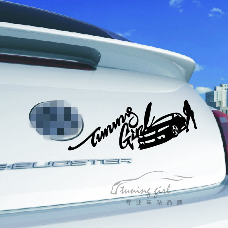 Car Stickers Tuning Girl Fast & Furious Racing Beauty Creative Decals Waterproof  Auto Tuning Styling 32*11cm D11