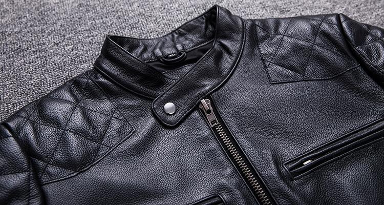 HTB1ewQuacfrK1Rjy1Xdq6yemFXao Brand new style motor style leather jacket,mens genuine leather coat.plus size black slim jacket.cowhide.cheap