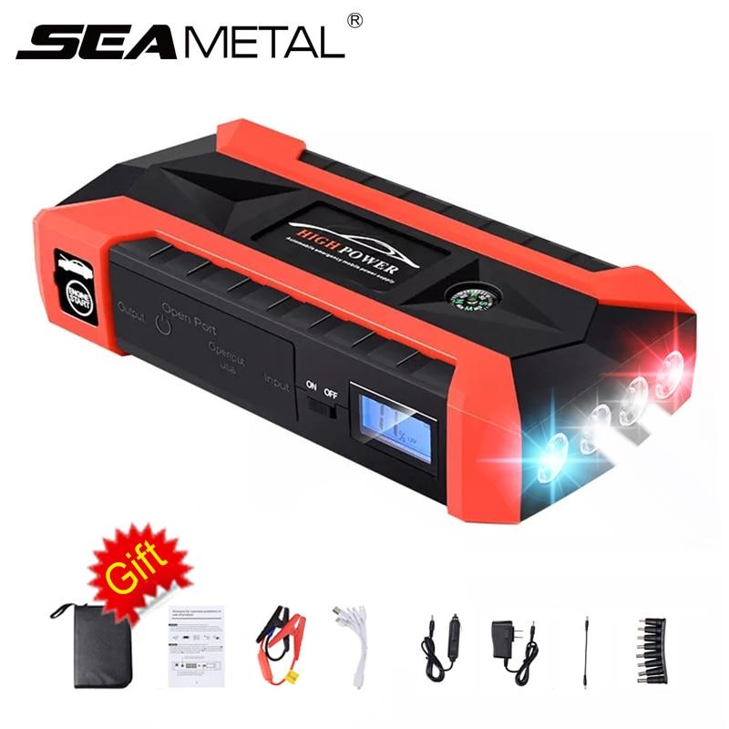 Saut démarreur 20000 mAh 12 V voiture batterie batterie externe démarrage dispositif LED 4USB EU prise d'urgence Booster Portable 600A Auto électronique