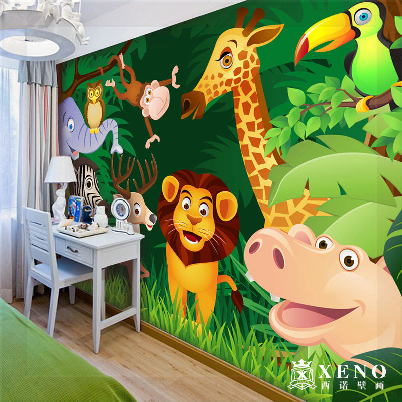 free shipping the large mural wallpaper child real. Black Bedroom Furniture Sets. Home Design Ideas