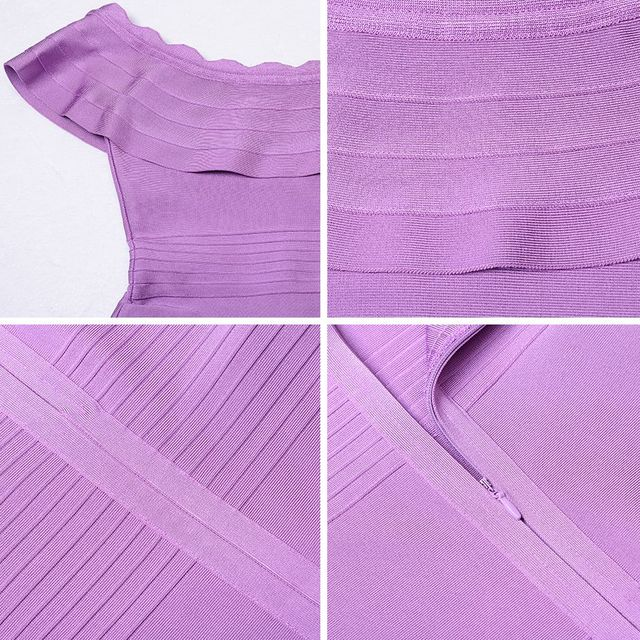 Frill Bodycon Bandage Dress