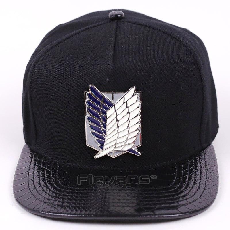 Men Women Fashion Adjustable Baseball Hats Anime Attack on Titan Surveys Corps Logo Snapback Caps Hip Hop Cap