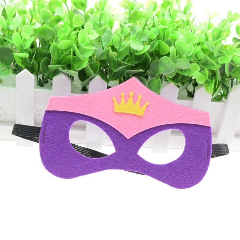 Máscara máscara Princesa Coroa Super Herói Hulk Thor Bonito Crianças Da Menina do Menino Xmas Traje Star Wars Avengers DIY Masquerade Eye máscara de Cosplay