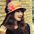 Women Flower Straw Hats Beach Travel Summer Hat Girls Sun Cap Chapeau Boonie HOT