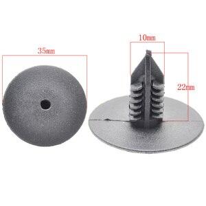 Image 2 - 50Pcs 10mm Für Toyota VW Renault Kunststoff Nieten Befestigungen Tür Fender Bumper Abdeckung Push Pin Clips Clip