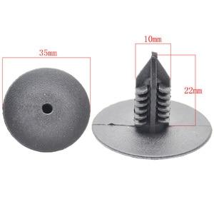 Image 2 - 50Pcs 10mm For Toyota VW Renault Plastic Rivets Fasteners Door Fender Bumper Cover Push Pin Clips Clip