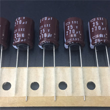 10pcs 270uF 25V NCC SXE Series 10x15mm Low Impedance 25V270uF Motherboard Electrolytic Capacitor