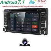 Android7.1 4G/WIFI SD 2DIN Car Monitor DVD GPS for Toyota Terios Old Corolla Camry Prado RAV4 Universal Bluetooth Capacitive DAB