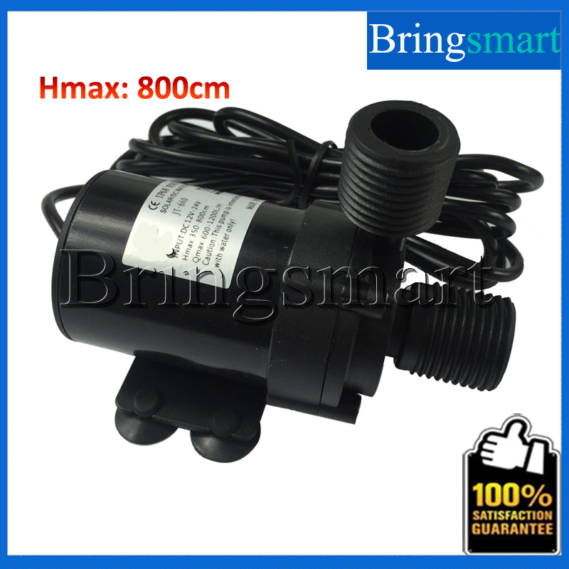 ФОТО JT-660B Water Heater Booster Pump 800L/H 10M 12V 24V DC Brushless Water Pump Submersible Fountain Pump  Warm Heating Circulating