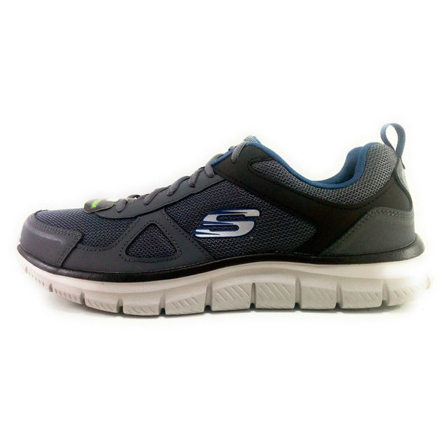 a8a2dad2b975 SKECHERS TRACK SCLORIC man running shoes mesh Grey Skechers man ...