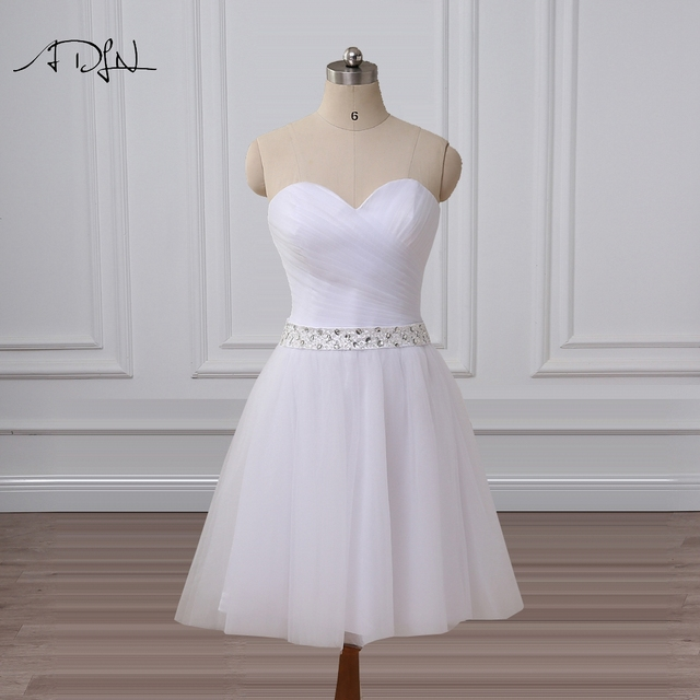 Adln Sweetheart Sleeveless A Line Short Wedding Reception Dresses