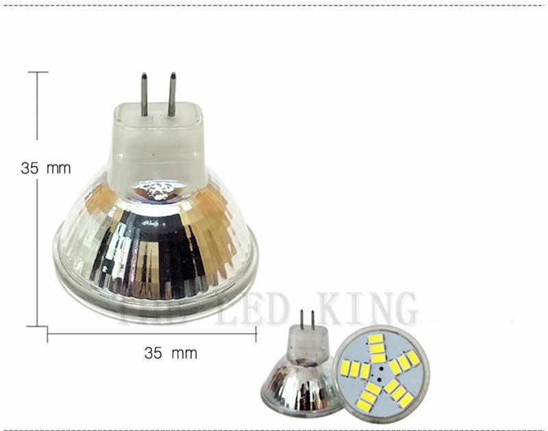 1 pcs Super Terang Dimmable MR11 Dipimpin Sorotan AC/DC 12 V 3 W 5 W 7 W 5730 SMD 7 12 15 Led Lampu Hemat Energi Led Spot cahaya