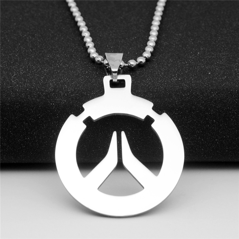 10pcslot Overwatch Inspired Unisex Character Necklaces Stainless