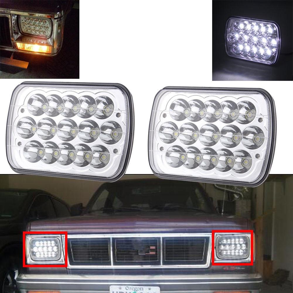 2pcs LED Headlights Upgrade Lamps For International IHC Assembly 9200 9900 9400i