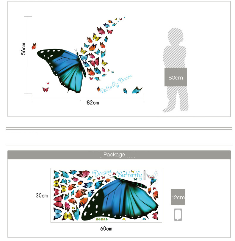 Dream Butterfly Decorative Wall Stickers