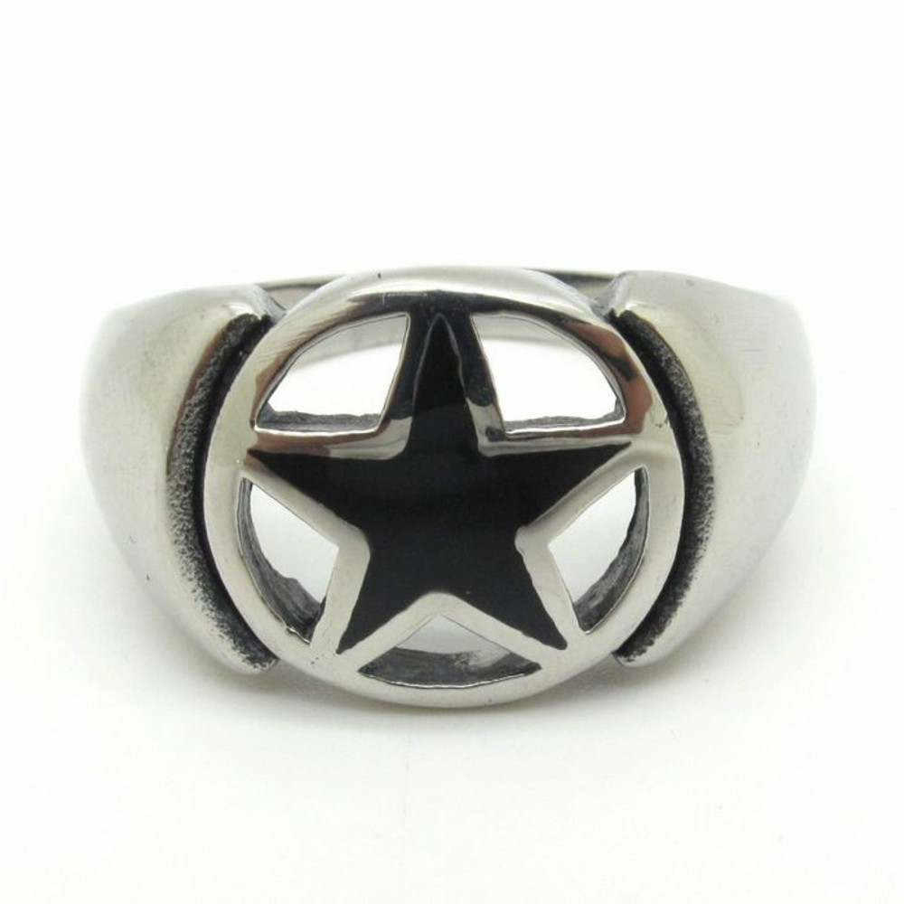 R786, Got 316L Stainless Steel Desigenr Punk Man's Male Thank Your Lucky Five Star Captain America Ring New 2014