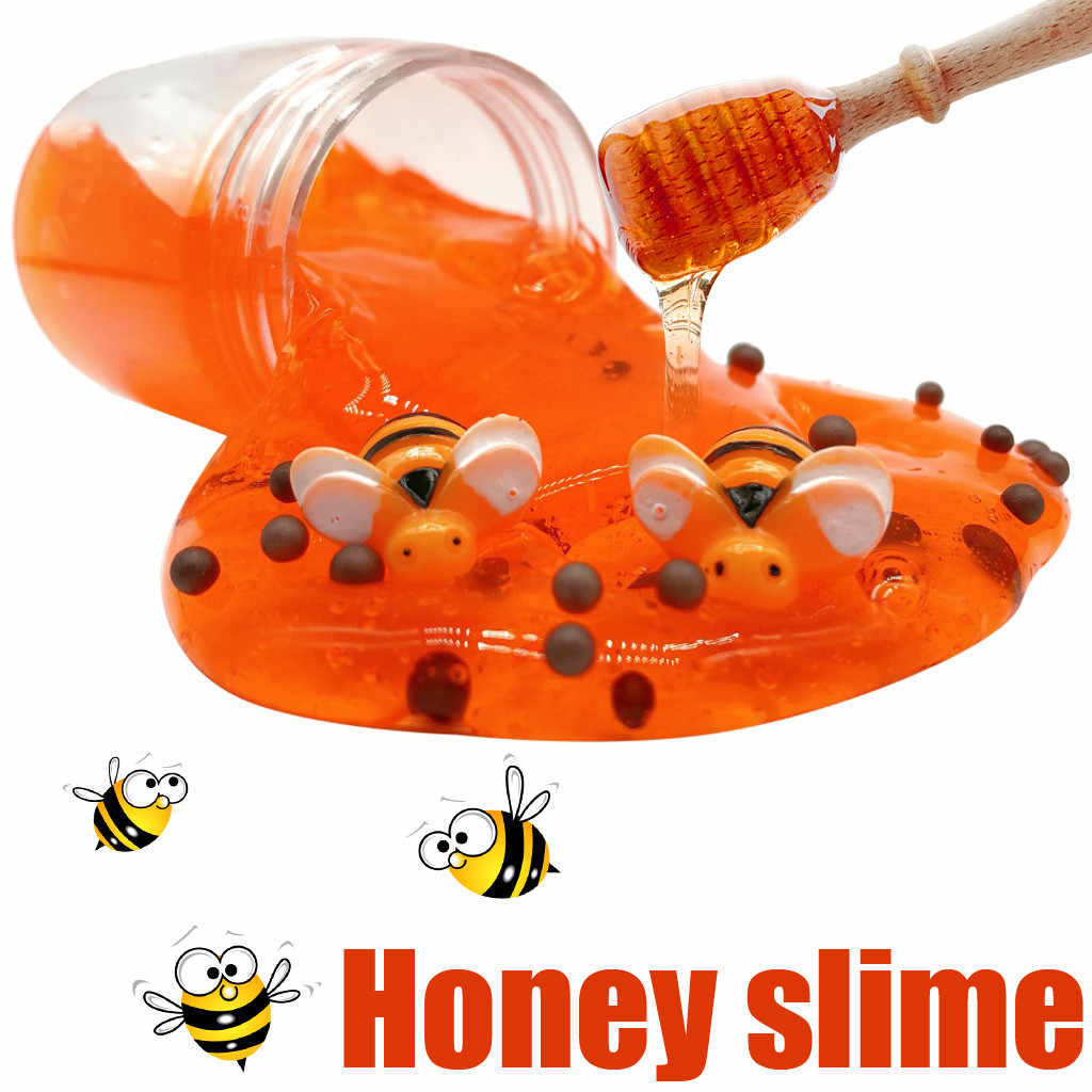 Honeybee Mixing Cloud Slime 80ML Honey Slime Putty Scented Stress Kids Clay Toys Sludge 2018 Brusting Christmas Gift