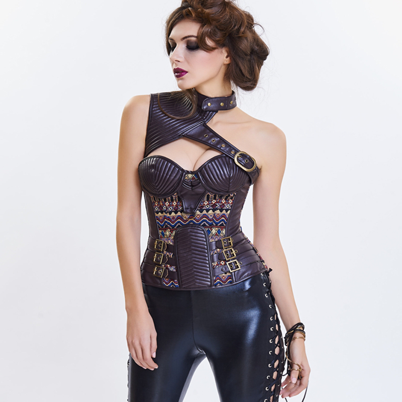 2019 sexy fashion gothic steampunk   corset   gothic clothing bodi shaper slim shapewear women sexi   bustier     corset   sexi corselet top