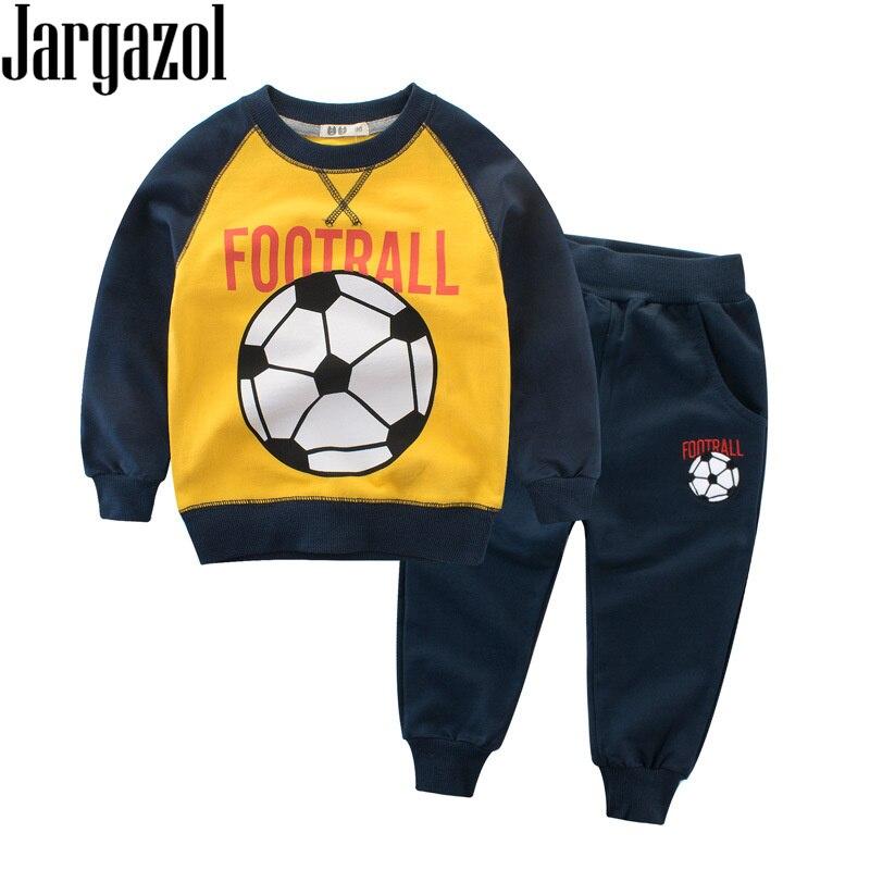 Boys Clothes Autumn Spring Sweatshirt&pants Football ...