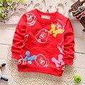 Bebê crianças Camisetas 2016 nova camisas das meninas dos meninos dos desenhos animados crianças Bonito tees encabeça crianças roupas 0-3agegood qualidade 4 Cor 1603