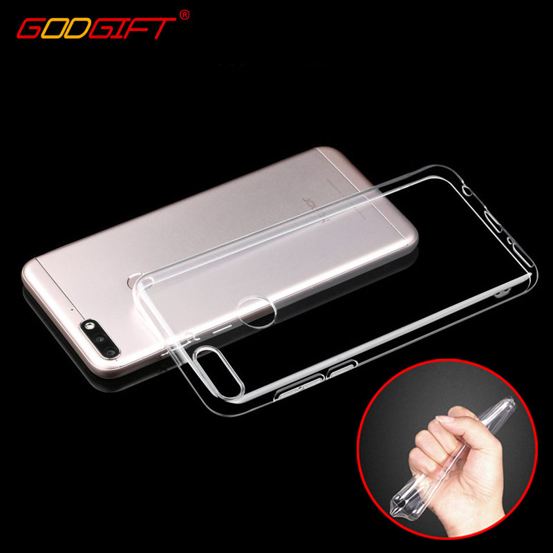the latest a5065 50336 Godgift Huawei Y7 Prime Case Luxury Huawei Y7 Transparent Silicone Cover  Huawei Y 7 Prime Cases Y7prime Cover