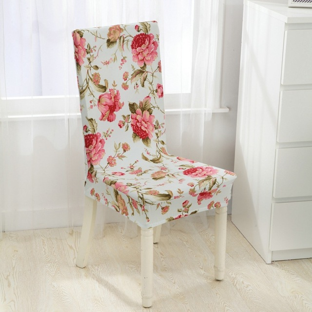 Floral Print Chair Cover Elastic Chair Covers Multifunctional Spandex  Polyester Cloth Universal Stretch Dining Home Decor