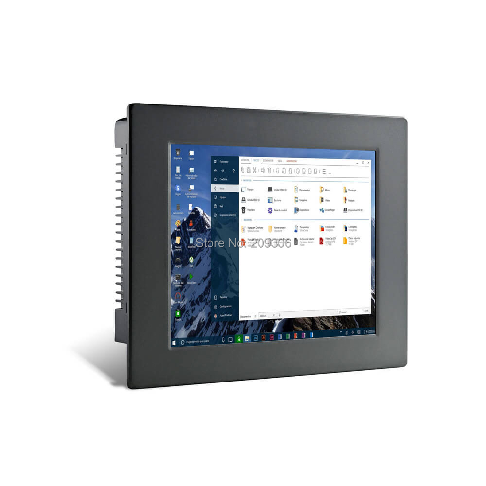 """LILLIPUT PC-1202 12"""" Industrial Panel Computer i5 5-wire resistive touch screen Win 7 8 10 Linux system IPC Aluminum Embedded PC Price $998.00"""
