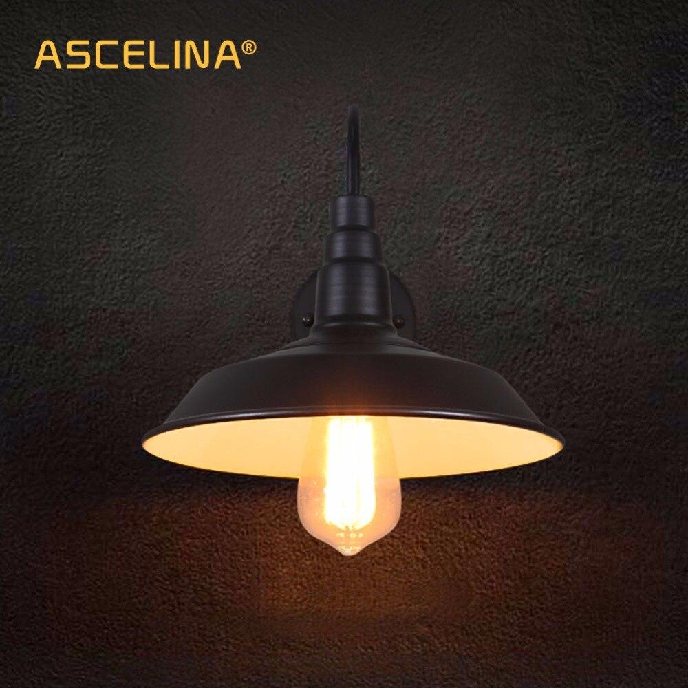 Image 2 - Loft industrial lâmpada de parede do vintage luz led retro  lâmpada país da américa simplicidade restaurante sala estar decoração  luzloft wall lampwall lamp ledloft wall