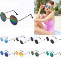 Hippie Circle Retro Small Round Colorful Sunglasses Women Glasses Trendy Sunglasses Cyber Goggles Vintage Hippy Eyewear--O123