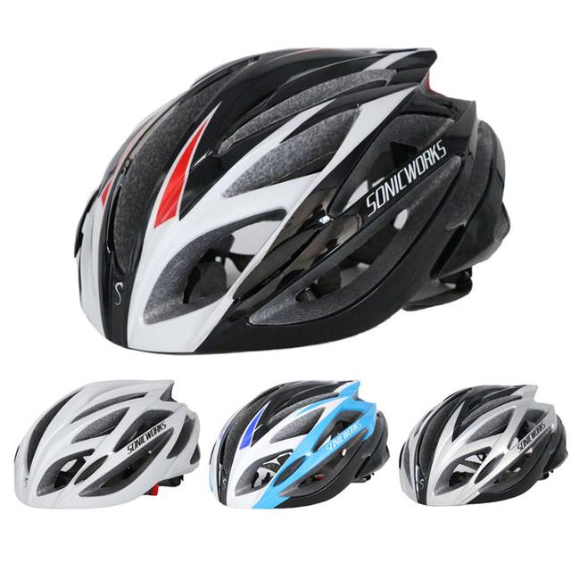 Kaski rowerowe integralnie formowane mężczyźni kobiety Ultralight Mountain Road kask rowerowy kaski rowerowe dla 57-62 cm 21 otwory wentylacyjne SW0006
