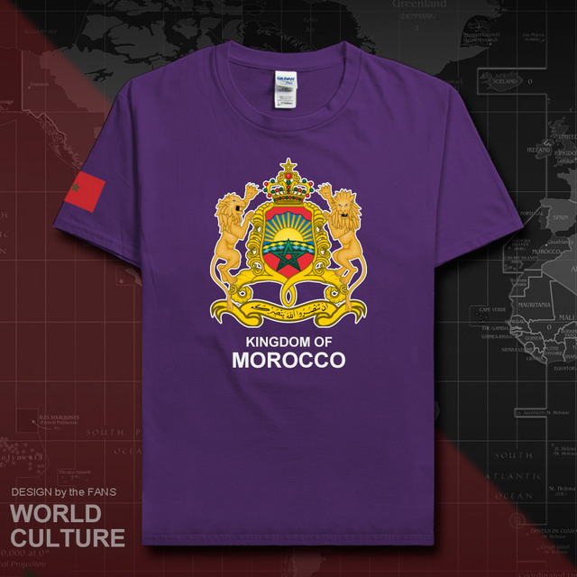 The Western Kingdom of Morocco Moroccan men t shirt fashion nation team cotton t-shirt man sporting clothing tees country MAR 20