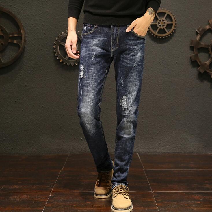 2019 heiße Verkäufe Lange Länge Stilvolle Jeans Für Männer Top Qualität Männlichen Hosen Freies Verschiffen