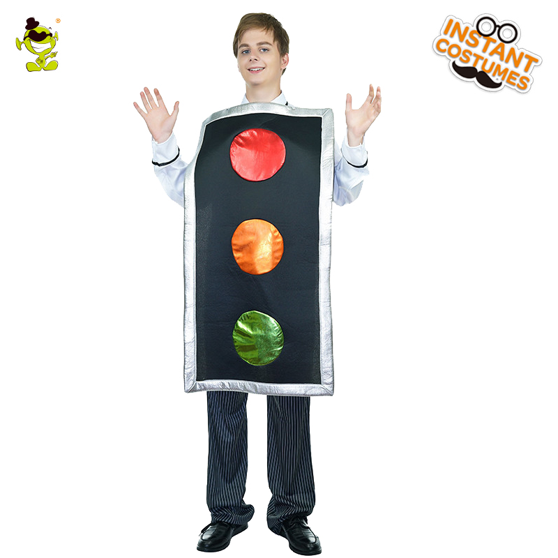 New Arrival Adult Men's Traffic Lights  Costume Red&Yellow&Green Color Hot Sale Role Play For Party Masquerade Costumes