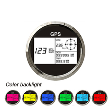 все цены на Update 85mm Color Backlight Car GPS Speedometer MotorcycleTruck Boat Digital LCD Speed Gauge Knots Compass with GPS Antenna онлайн